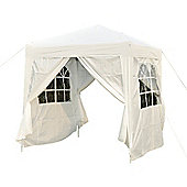 Outsunny 2m x 2m Garden Heavy Duty Pop Up Gazebo Party Tent White