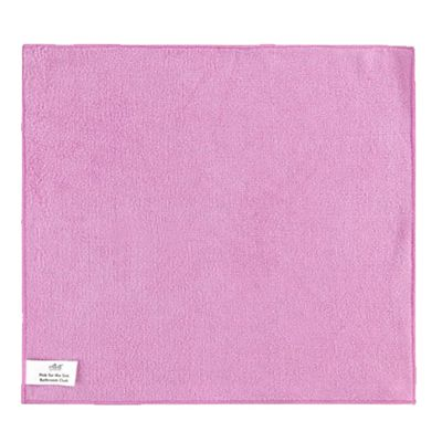 Elliott Bathroom Microfibre Cleaning Cloth, Polyester Material, Super Absorbent, (Pink)
