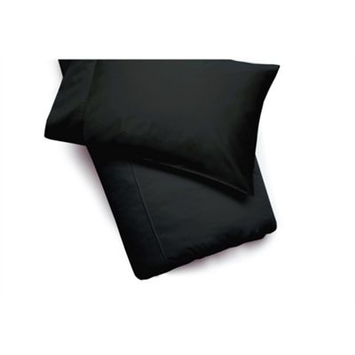 Belledorm Egyptian Cotton 200 Thread Count Black Duvet Cover - Single