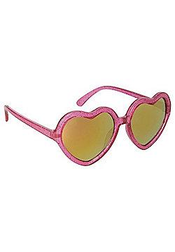 Foster Grant Kidz Glitter Heart Shaped Sunglasses - Pink