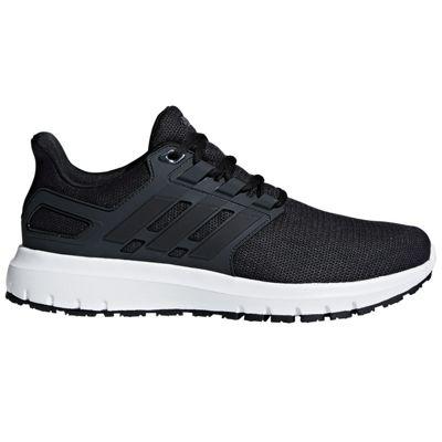 adidas Energy Cloud 2 Mens Neutral Running Trainer Shoe Black/Carbon - UK 9