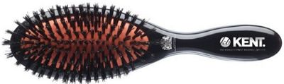 Kent Medium Pure Black Bristle Cushioned Brush - CSFM