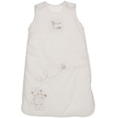 OBaby B is for Bear White 2.5 Tog Sleeping Bag - 0-6 Months
