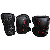 SFR Essentials Triple Padset - Black / Red - Small (age 4 - 7)