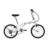 "Barracuda Apus 20"" Folding Unisex Bike White"