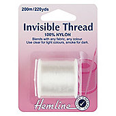Hemline Clear Invisible Nylon Sewing Thread 200m (1 Spool)