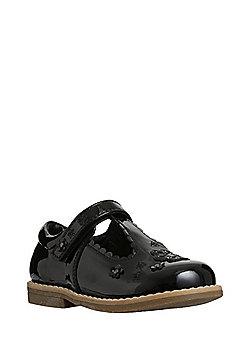 F&F Scalloped Patent T-Bar Shoes - Black