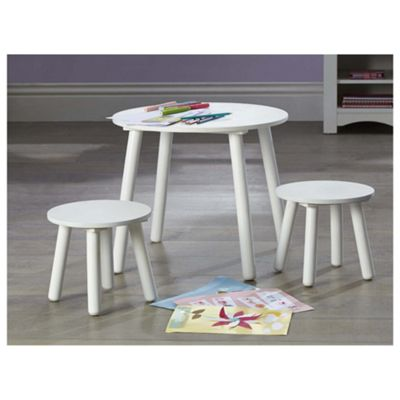 Tesco Kids Furniture   Kids Table U0026 Stools Set In White