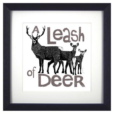 Buy Animal Friends Framed Print - Deer from our Children\'s Wall Art ...