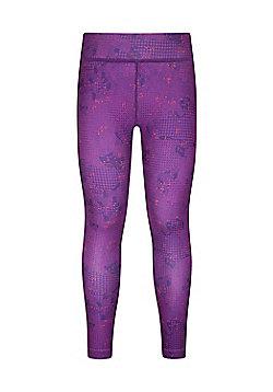 Mountain Warehouse GIRLS PRINTED LEGGINGS - Dark purple