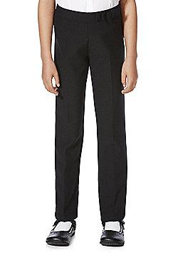 F&F School Girls Stretch Bow Trim Trousers - Black