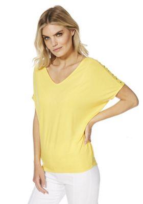 F&F Studded Sleeve Top Yellow 18