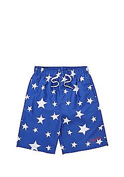 Dudeskin Star Print Board Shorts - Blue