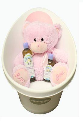 Pink Baby Shnuggle Bath Gift Set - Pink Shnuggle Bath, Baby Bubble Bath, Baby Shampoo & Pink Teddy