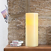 Large Church Pillar Wax Battery LED Candle With Timer