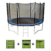 Up and About 12ft Jump Easy Power Trampoline Package with Free Ladder, Weather Cover and Building Tool