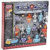 Block Tech 10 Block Figures -Action Heroes