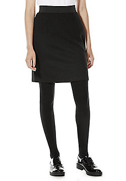 F&F School Soft Touch Jersey Tube Skirt - Black