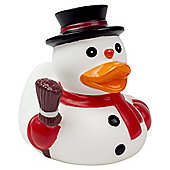 Lilalu Christmas Snowman Rubber Duck Bathtime Toy