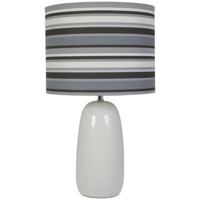 Kliving Lombard Ceramic Grey Table Lamp