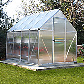 Palram Mythos 6x8 Silver Greenhouse - Polycarbonate and Aluminum Frame