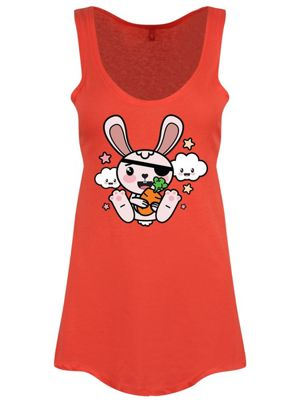 Super Kawaii Pirate Bunny Women's Floaty Vest, Coral