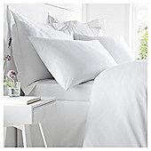 West Park White 100% Cotton Super King Flat Sheet