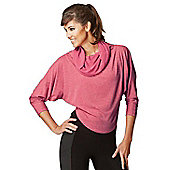 Womens Multi-Way 2 in 1 Reversible Long Length Sleeve Loose Yoga Top - Purple