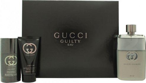 ec31d0f64 Gucci Guilty Pour Homme Gift Set 90ml EDT Spray + 75ml Deodorant Stick +  50ml Shower