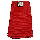 Now Designs Single Ripple Kitchen Tea Towel, Red