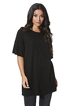 F&F Bell Sleeve Tunic - Black