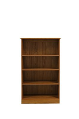 Caxton Tennyson Medium Height Wide Bookcase in Teak