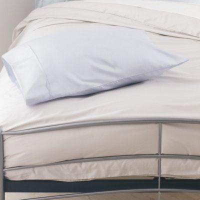 Belledorm Pima Cotton Plain Hem Pillowcase (Set of 2) - White