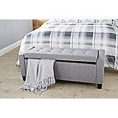 Verona Blanket Storage Box Grey
