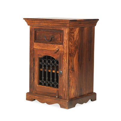 Maharajah Indian Rosewood 1 Drawer Bedside Cabinet - RIGHT