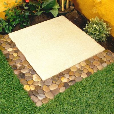 4 X Parkland Pebble Border Stone Garden Plant Lawn Edging Strips Wall Tile Bathroom