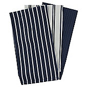 Navy Stripe 3 Piece Tea Towels