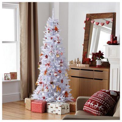 Festive 6.5ft Regency White Slim Fir Christmas Tree