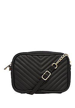 F&F Quilted Front Cross-Body Bag