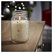 Tesco Christmas Golden Amber Mason Jar Candle