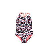 F&F Aztec Print Plaited Strap Swimsuit - Multi