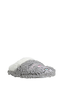 Me To You Tatty Teddy Sleepy Head Mule Slippers - Grey