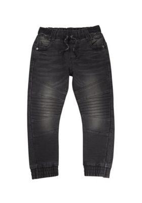 F&F Loppback Jogger Jeans Washed Black 12-18 months