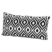 4 Seasons - 30 x 60cm Scatter Cushion with Zipper - Black