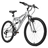 "Terrain 26"" Wheel Full Suspension Chrome Unisex Mountain Bike"