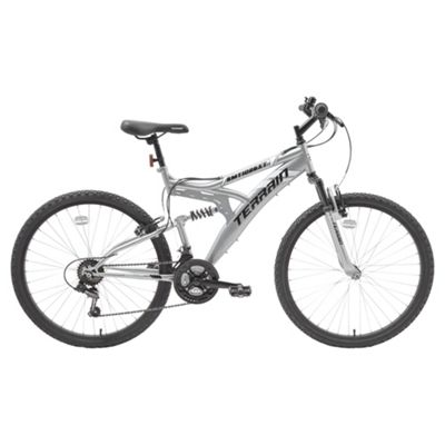 Terrain 26 inch Wheel Full Suspension Chrome Unisex Mountain Bike