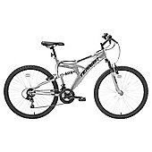 Terrain 26 inch Wheel Full Suspension Chrome Unisex Mountain Bike