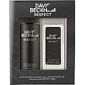 David Beckham Respect Gift Set 150ml Deodorant Body Spray + 75ml Deodorant Spray
