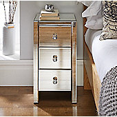 Murano Mirrored 3 Drawer Bedside Table