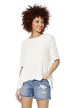 Only Crepe Smock Top - White